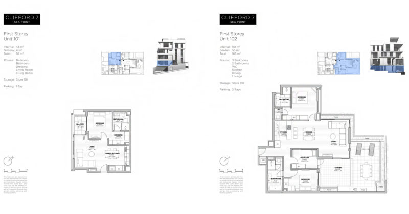 Clifford 7 Seapoint plans