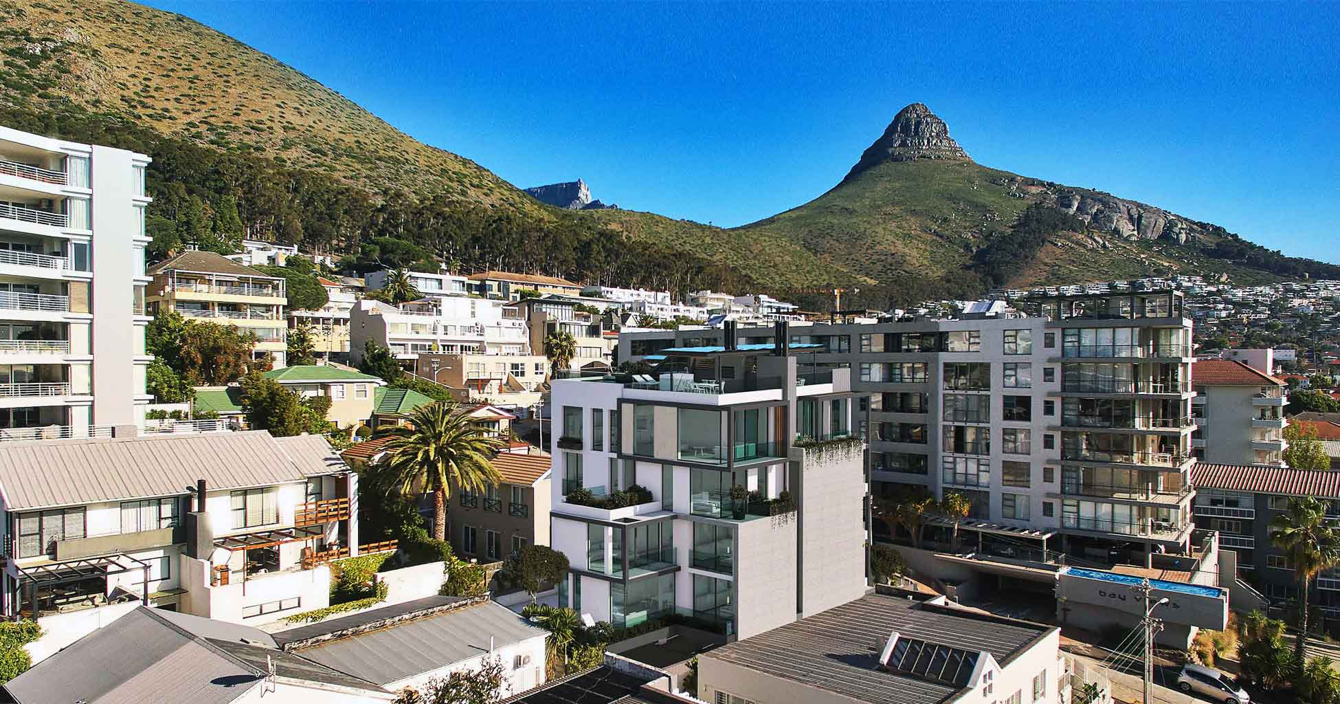 View of Lion's head & Table Mountain
